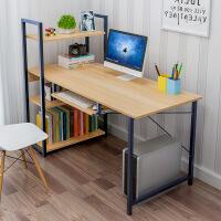 【限时直降3折】钢木台式电脑桌家用简约现代学生卧室书架简易桌子