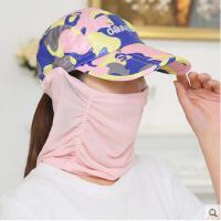 户外女帽子夏季骑车太阳帽遮阳帽女可折叠运动鸭舌帽女夏天防晒帽子遮脸
