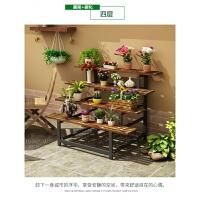 桌面地面新款简约木质落地室内折叠多层阳台客厅多肉架花架