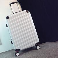 男士拉杆箱学生旅行箱24行李箱男潮韩版个性青年密码箱皮箱子20寸 白色 磨砂防刮