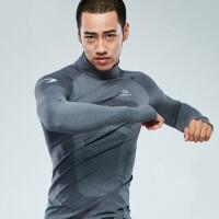 紧身衣男运动训练跑步长袖 弹力速干保暖健身衣