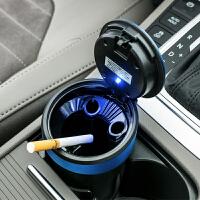YAC汽车用烟灰缸带led灯 车载创意耐高温烟灰缸办 公桌夜光烟灰缸