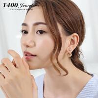 T400耳环韩国气质防过敏耳钉女个性简约 8488