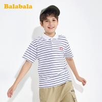 巴拉巴拉男童短袖t恤Polo衫夏装儿童时尚打底衫中大童潮