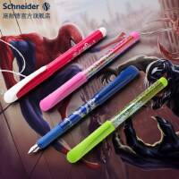 德国进口Schneider施耐德儿童钢笔小学 学生用墨囊彩杆0.5mm练字日用书写免费定制