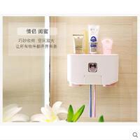 全自动吸壁式牙刷置物架免打孔漱口杯套装抖音牙膏挤压器