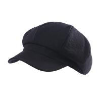 帽子女秋冬天韩版时尚潮鸭舌帽纯色八角帽百搭画家帽显瘦贝雷帽