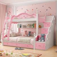 高低床床子母床儿童家具多功能欧式双层床木床男女孩学生床