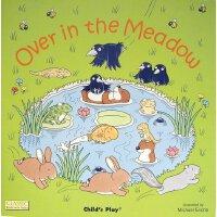 【现货】英文原版 儿歌洞洞书:在草地上(纸板书) Over in the Meadow 1-3岁适读 廖彩杏书单 97
