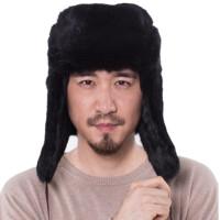 雷锋帽男冬天保暖棉帽中老年潮人加厚护耳皮草帽子