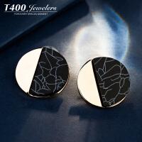 T400耳钉女日韩国气质简约耳环个性耳坠防过敏耳饰品 8608