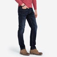 骆驼男装秋冬新款洗水牛仔裤男中腰直筒韩版潮流青年休闲长裤