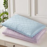 lovo家纺 玻尿酸丝滑乳胶纤柔枕头枕芯 高支高密60s天丝面料