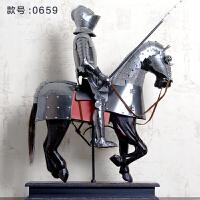 复古铁艺中世纪古代罗马战神盔甲骑士模型电视柜欧式装饰品摆件