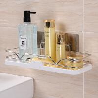 双庆免打孔厕所卫生间置物架壁挂架子浴室挂墙壁洗漱台吸盘置物架 304不锈钢