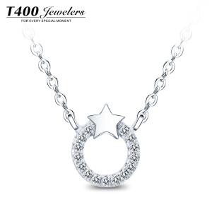 T400星星银项链女锁骨日韩国简约吊坠个性学生百搭短款颈链配饰品 12249