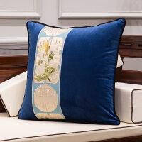 新中式沙发抱枕靠垫绒面含芯1138现代简约客厅家用大靠枕枕套腰枕定制