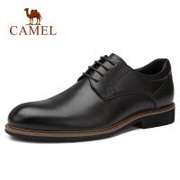 camel骆驼男鞋 秋季新士商务正装皮鞋牛皮优雅系带办公鞋通勤皮鞋