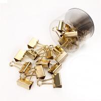 金色夹子大号长尾夹试卷夹小号燕尾夹文件票据夹办公文具用品