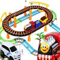 电动火车轨道车儿童玩具小火车头套装赛车轨道汽车生日礼物