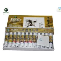 马利牌12色中国画颜料 E1301工笔画颜料 仿古画 水墨画颜料