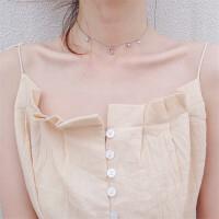 配饰品 S925银气质颈链星星月亮项链 美少女战士短款锁骨链
