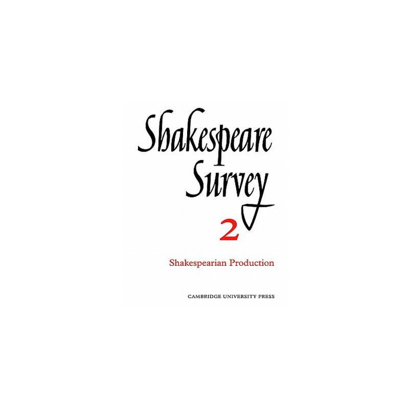 【预订】Shakespeare Survey 9780521523561 美国库房发货,通常付款后3-5周到货!
