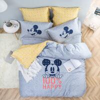【3.25品牌团 低至2折起】LOVO家纺 迪士尼快乐百分百床品四件套