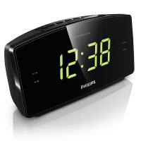 飞利浦AJ3400 FM收音机时钟闹钟 支持定时关机 音响
