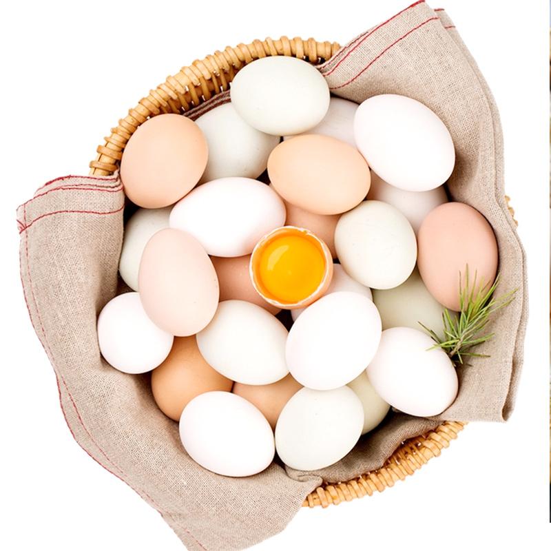 土鸡蛋农家散养新鲜天然含硒鸡蛋30枚山林放养松针鸡蛋 天然含硒 散养土鸡蛋