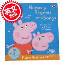 现货 英文原版小猪佩佩奇粉红猪小妹CD书含乒乓歌BingBongSong,猪爷爷的小火车等Peppa Pig: Nursery Rhymes and Songs Picture Book andCD
