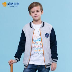 2018新款春秋装男童中大童运动男孩休闲棒球衫拉链开衫夹克外套