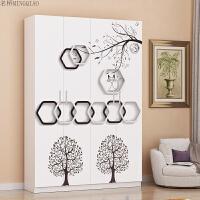 家用烤漆鞋柜白色简约现代可定制门厅柜简易组装大容量储物柜组合 组装