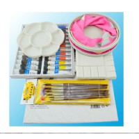 支持货到付款 温莎牛顿12 18 24色水彩颜料 水彩画笔 水彩纸 调色盒七件套