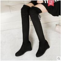 过膝长靴长筒内增高靴子女新款秋冬季网红瘦瘦靴弹力女高筒靴