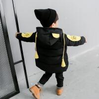 童装男童棉袄2017新款装加绒加厚棉衣中长款儿童羽绒外套潮