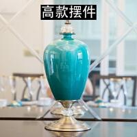 新古典家居装饰品欧式客厅样板间陶瓷花瓶结婚礼物创意电视柜摆件