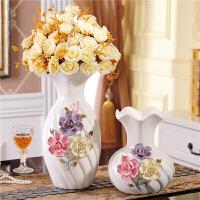 20190815054116579欧式陶瓷插花小清新干花器水培装饰玫瑰创意大号落地花瓶客厅摆件