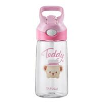 小�i佩奇460ML�和�水杯夏季����防摔��吸管杯可�劭ㄍㄓ��@塑料杯水��T4600粉色