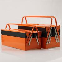 户外商用家用时尚手提翻斗式工具箱三层铁皮工具箱工具盒