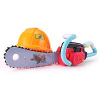 儿童熊出没系列玩具套装 光头强电锯 发声工程帽男孩