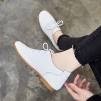 【掌柜推荐】ZHR2019春季新款小白鞋英伦风女鞋真皮休闲鞋百搭小皮鞋经典单鞋