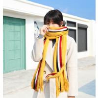 围巾女冬季韩版学生女生软妹加厚毛线针织保暖围脖男冬天长方形围巾