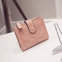 新款新款女士钱包女短款韩版学生简约搭扣折叠钱包两折钱夹零钱包