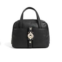 VERSACE JEANS范思哲 新款女士黑色聚酯纤维搭扣装饰手提包E1VSBBF6 70711 899