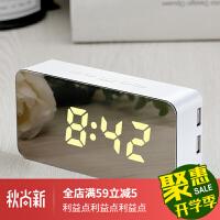 电子表桌面闹钟智能创意床头简静音夜光多功能小钟表时钟数字