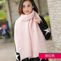 毛线围巾女网红同款时尚韩版长款加厚针织围脖韩国户外运动保暖新品女士围巾