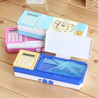 多功能文具盒可爱创意卡通带套 密码铅笔盒 学生文具盒用品