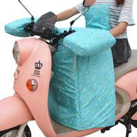 电动车挡风被冬季加绒加厚保暖护腿电瓶车踏板摩托车挡风罩电分体