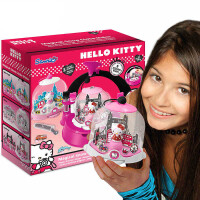 Hello kitty凯蒂猫女孩手工diy儿童玩具创意雪花水晶球套装